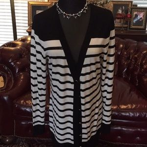 White Home Black Market Size L Long Sequined Top